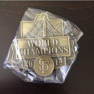 NIB SF Giants World Champions Belt Buckle 2014